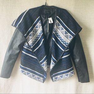 """i Jeans by Buffalo Black Navajo """"Marcie"""" Jacket"""